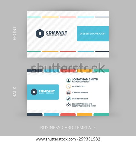vector modern creative clean business card stock vector 259331582