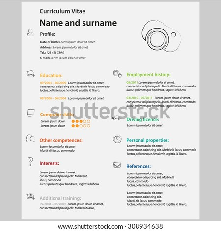 Vector Modern Cv / Resume   Template  What Is A Cv Resume