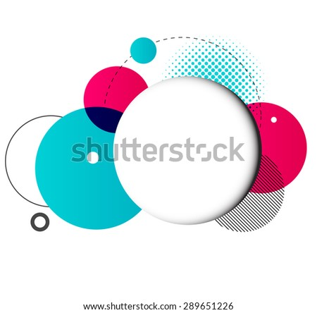 Vector Modern Design Circle template for infographics - stock vector