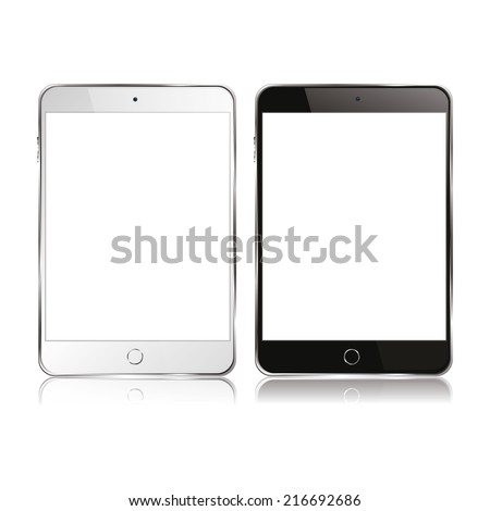 vector modern electrical tablet - stock vector