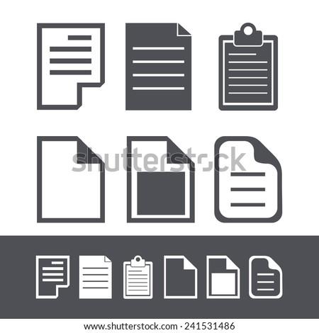 Vector modern file icons set. Web element design - stock vector