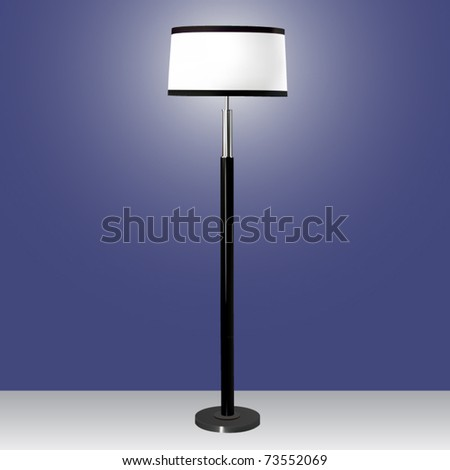 vector modern floor lamp - stock vector