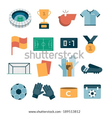 vector modern football icons - stock vector