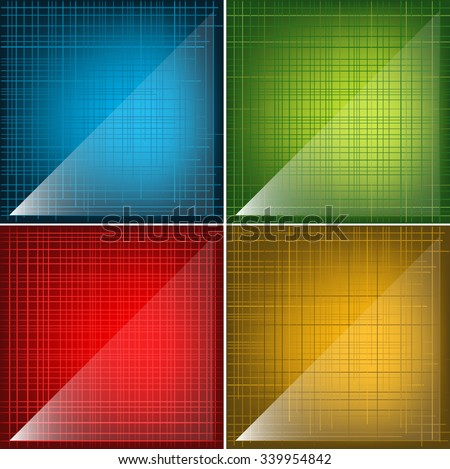 Vector Modern Glassy Textures Colorful Backgrounds