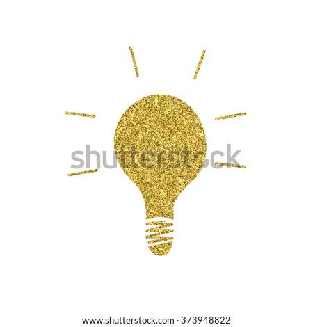 Vector modern golden glitter idea background. Eps10 - stock vector