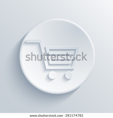 Vector modern light shopping circle icon background