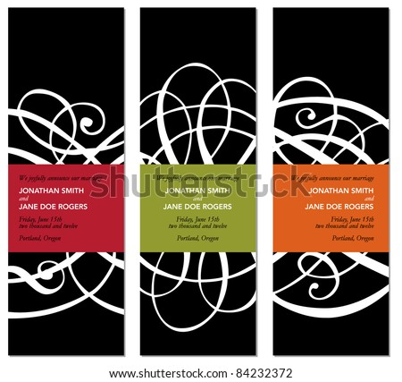 Vector Modern Matching Frame Set. Easy to edit. Perfect for invitations or announcements. - stock vector