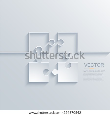 vector modern puzzle background. Business element design. Eps10 illustration - stock vector