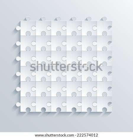 vector modern puzzle background. Eps 10 illustration - stock vector
