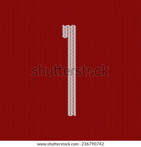 Vector modern red  knitted texture background. Eps10 - stock vector