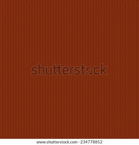 Vector modern red seamless knitted texture background - stock vector