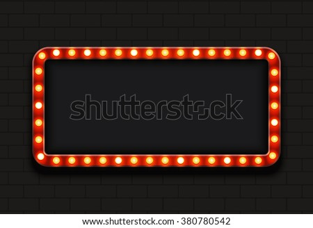 Vector modern retro billboard background with place for your text  - stock vector
