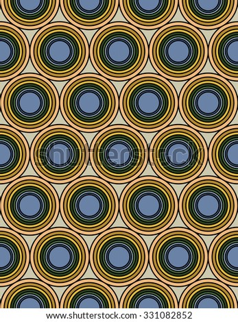 Vector modern seamless colorful geometry circles pattern, color abstract geometric background, trendy multicolored print, retro texture, hipster fashion design
