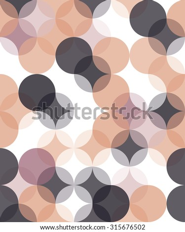 Vector modern seamless colorful geometry pattern overlapping circle  , color abstract geometric background,wallpaper print,  retro texture, hipster fashion design - stock vector