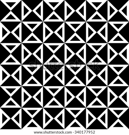 Vector modern seamless geometry pattern checkered, black and white abstract geometric background, trendy print, monochrome retro texture, hipster fashion design