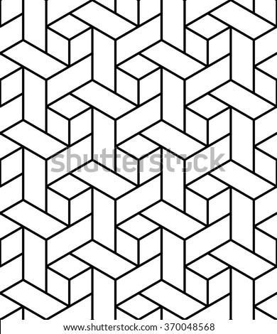 Vector modern seamless geometry pattern trippy, black and white abstract  geometric background, pillow print