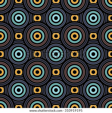 pillow texture seamless. Vector Modern Seamless Pattern Overlapping Circles Blue, Colorful Background, Textile Print, Abstract Texture Pillow