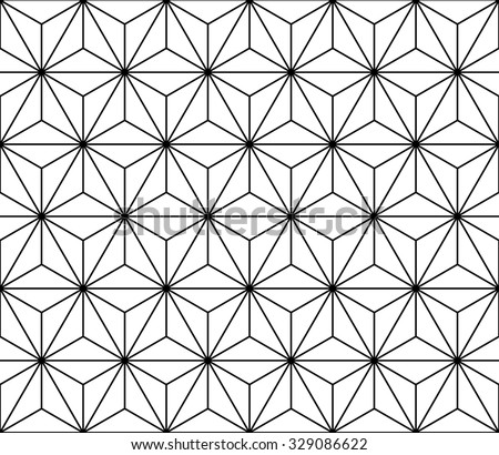 Vector modern seamless sacred geometry pattern, black and white abstract geometric background, trendy print, monochrome retro texture, hipster fashion design - stock vector