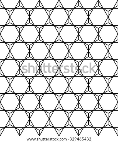 Vector modern seamless sacred geometry pattern hexagon, black and white abstract geometric background, trendy print, monochrome retro texture, hipster fashion design
