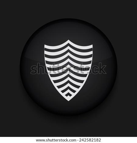 Vector modern shield black circle icon. Eps10 - stock vector