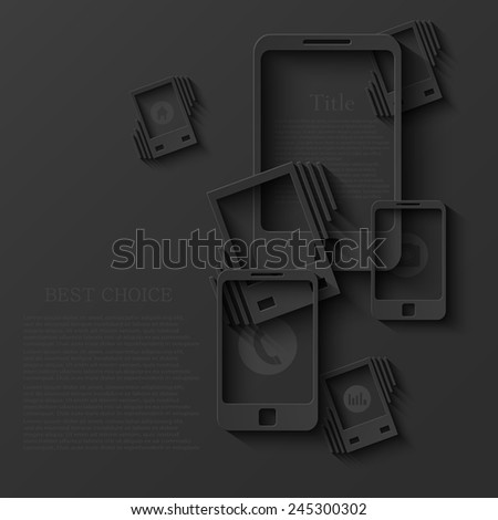 vector modern smartphone background. technology infographic. Eps10 - stock vector
