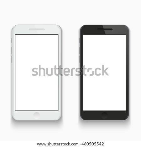 Vector modern smartphone on white background. Eps10 - stock vector