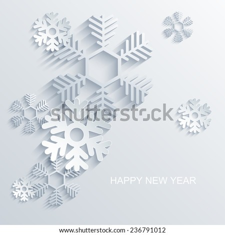 Vector modern snowflakes background. Eps 10 illustration - stock vector