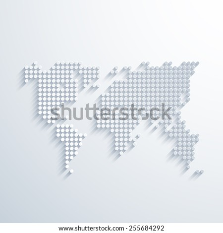vector modern social network map background template. Eps10 - stock vector
