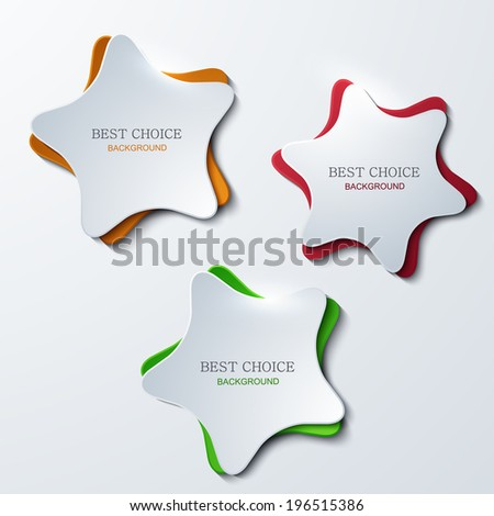 vector modern star banners background. 3 variants. Eps 10 - stock vector