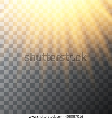 Vector modern sun on transparent background. sunshine design. Eps10 - stock vector