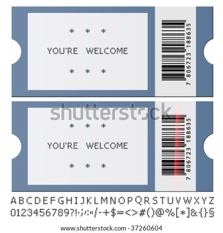 vector modern tickets - stock vector