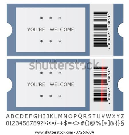 vector modern tickets - stock vector