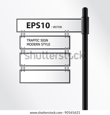 vector modern traffic sign - stock vector