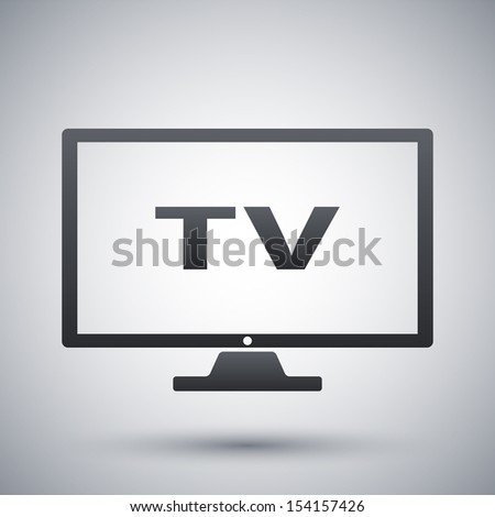 Vector modern tv icon - stock vector