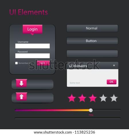 Vector modern user interface elements - stock vector