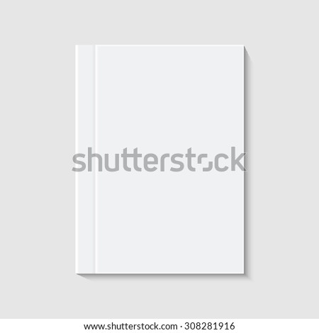 vector modern white book or brochure on white background - stock vector
