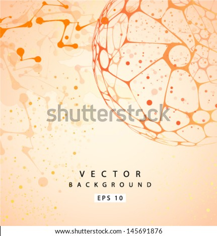 Vector molecular Structure background - stock vector