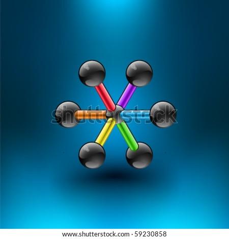 Vector Molecule - stock vector