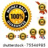 Vector money back guarantee sign, label - stock vector