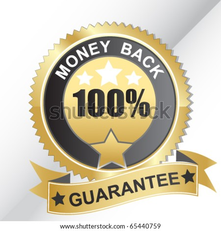 Vector money back label - stock vector