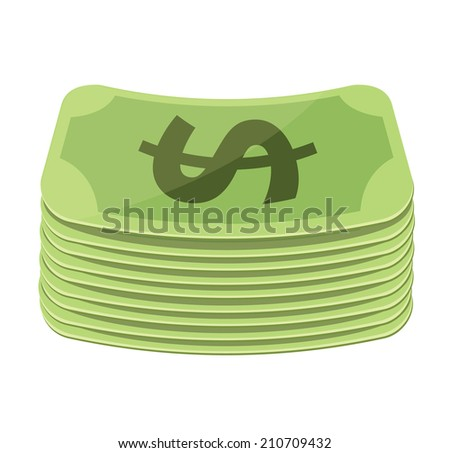Vector Money Flat Icon - stock vector