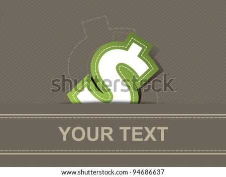 vector money icon dollar design, business background - stock vector