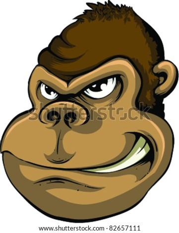 Vector Monkey - stock vector