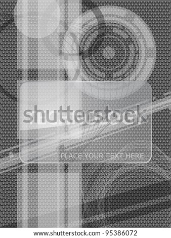 vector monochrome technology background - stock vector