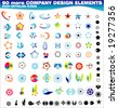 VECTOR 90 more Corporate identity icons or design elements - stock vector