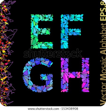 The Letters E F G H Eps8