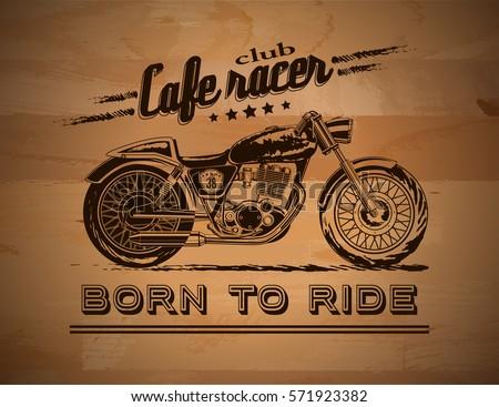 Custom stock vectors images vector art shutterstock - Cafe racer background ...