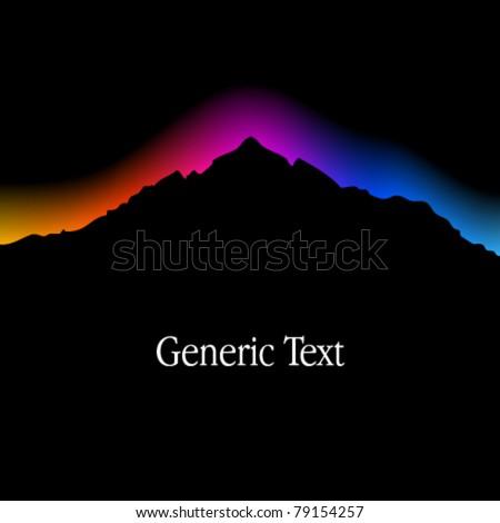 Vector Mountain Landscape Silhouette - stock vector