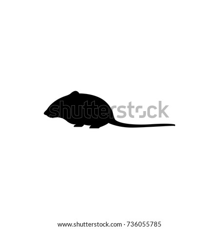 Vector Mouse Silhouette View Side Retro Stock Vector 736055785 ...