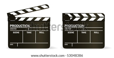 VECTOR movie clapper board - stock vector